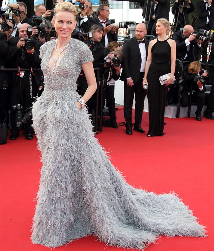 Naomi Watts in Elie Saab Couture at the Cannes Film Festival.