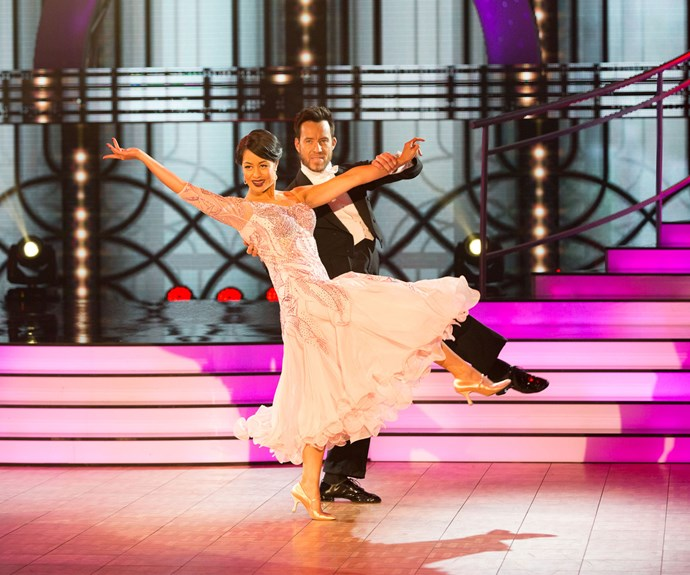 In week two of the competition, Teuila and Scott turned in a smooth foxtrot.